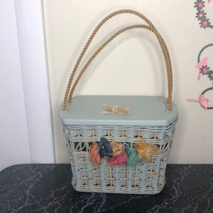 Vintage whimsical basket bag